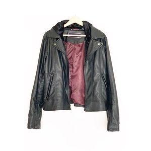 Tommy Hilfiger black Jacket.  genuine leather